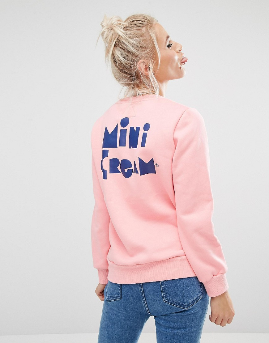 Mini Cream Sweatshirt With Chest Patch 01