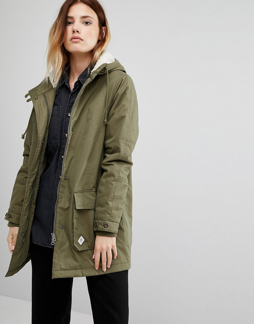 Vans Khaki Hooded Parka 01