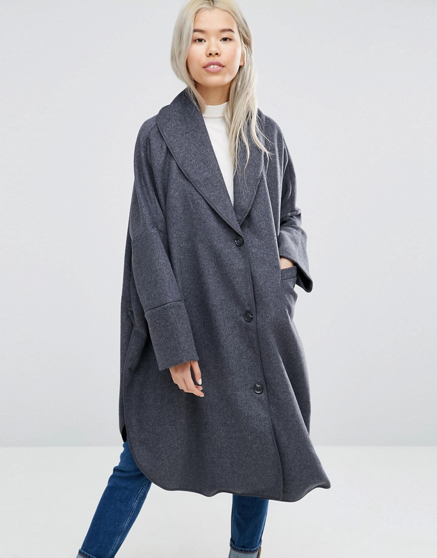 Weekday Longline Cape Coat 01