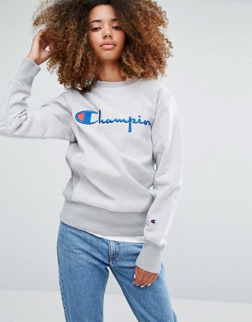 Champion Oversized Sweatshirt With Script Logo