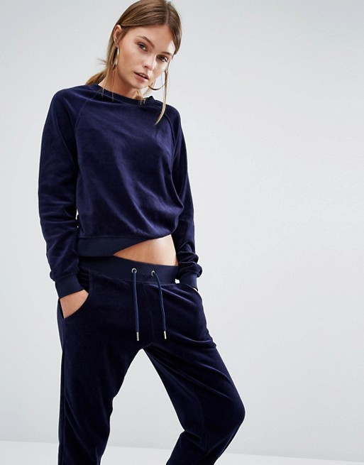 New Look Velvet Sweatshirt