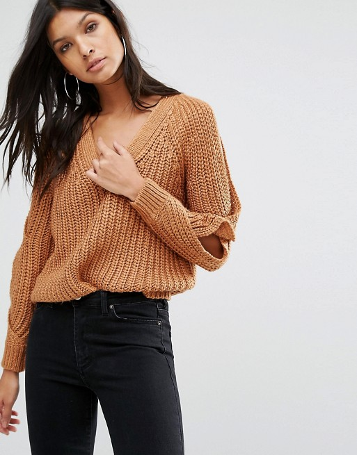 River Island Chunky Cold Shoulder Jumper
