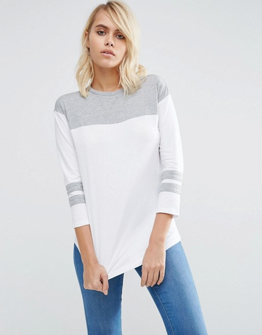 T-Shirt With Colour Block Panels