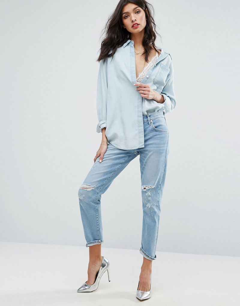 A-Gold-E Isabel Slim Fit Boyfriend Jean with Rips