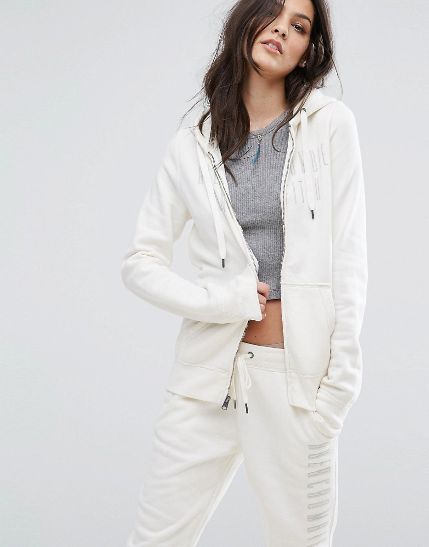 Abercrombie & Fitch Logo Zip-Through Hoodie