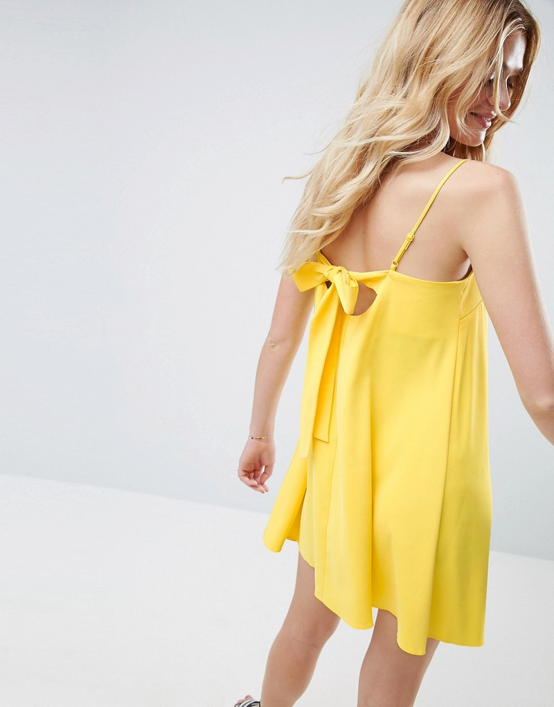 Bow Back Swing Cami Slip Dress
