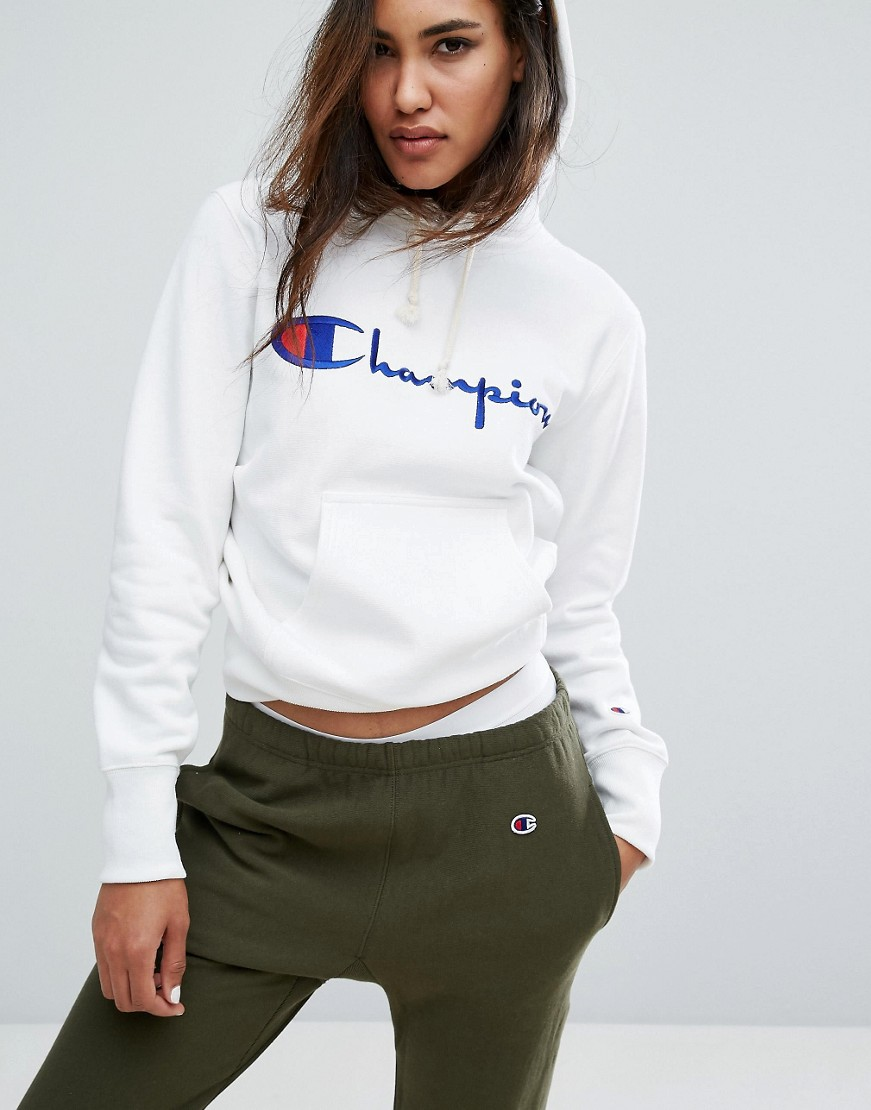 Champion Oversized Boyfriend Hoodie With Script Logo