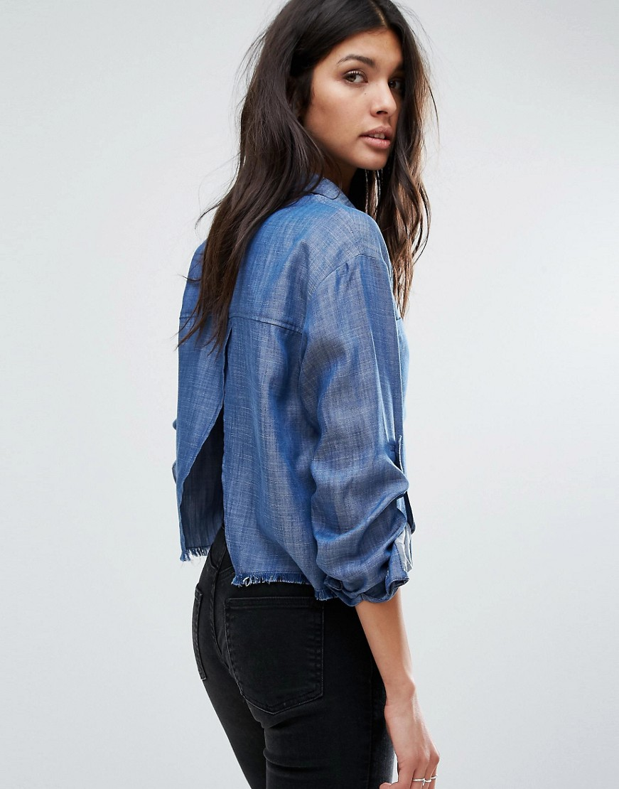 Current Air Chambray Shirt with Slit Back detail