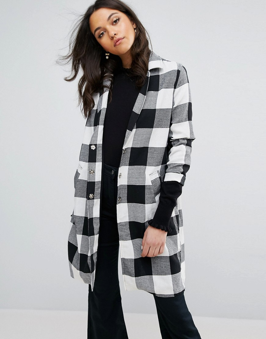 Lost Ink Check Duster Coat