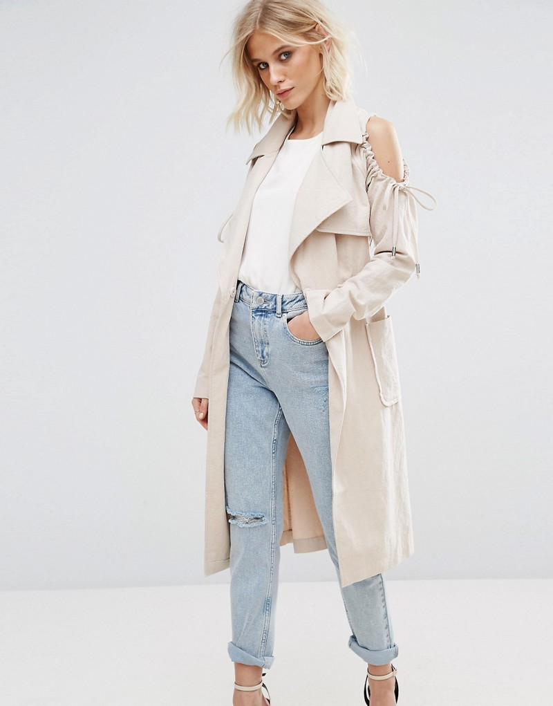 Lost Ink Cold Shoulder Jacket
