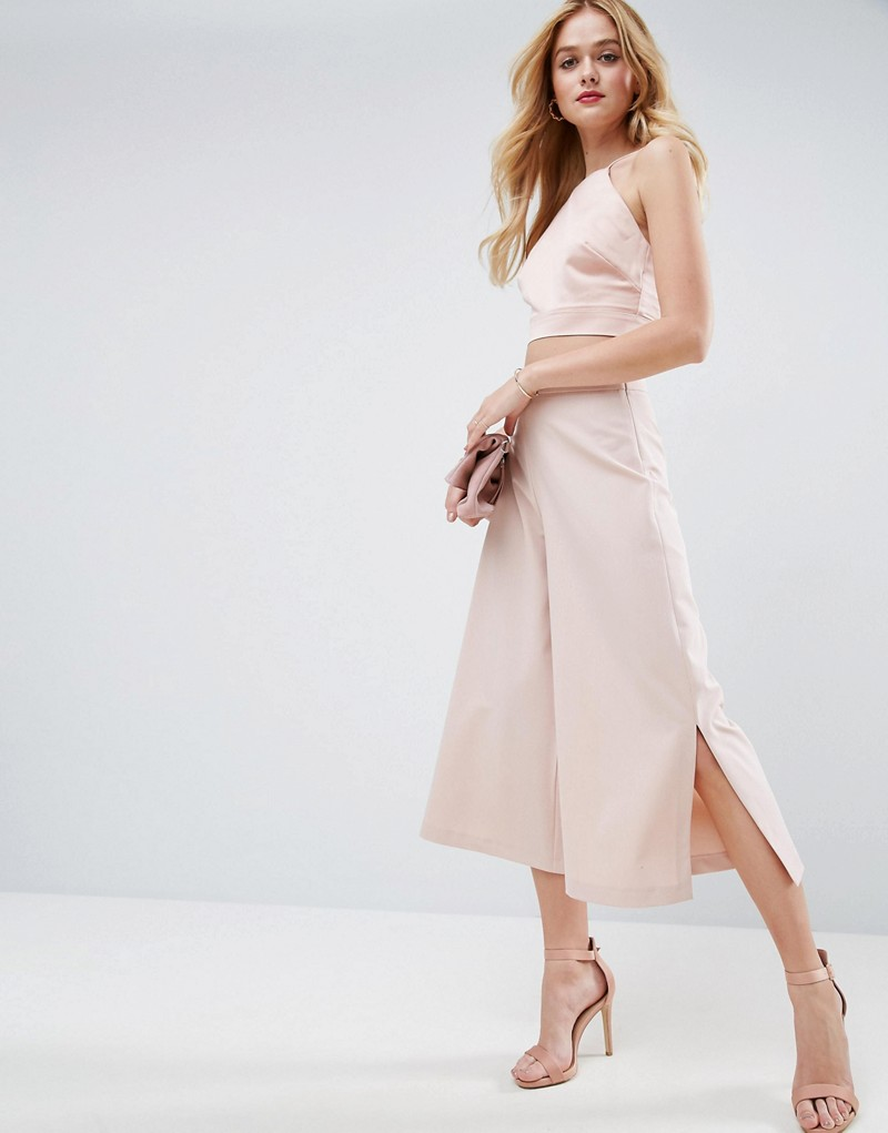 Mix & Match Clean Culotte With Side Split