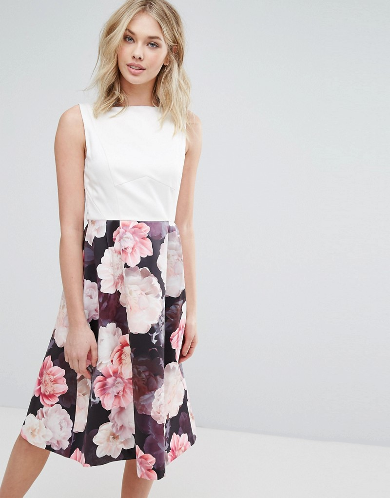 Oasis Floral Print 2 In 1 Dress