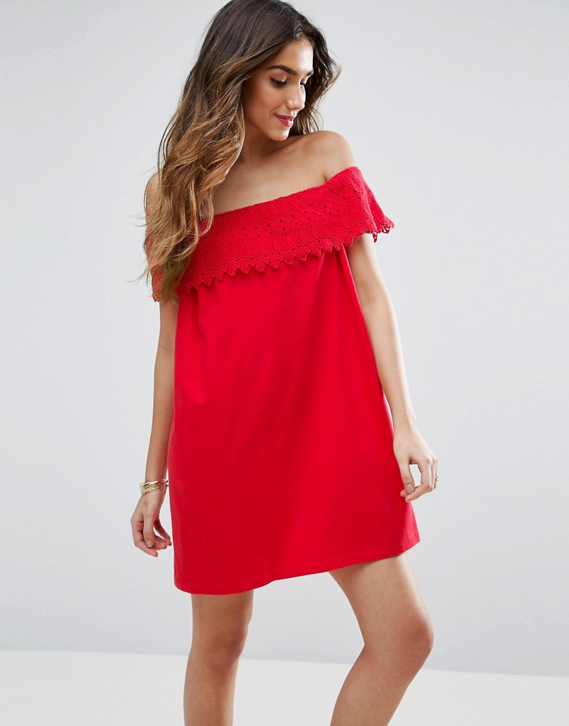 Off shoulder Sundress with Lace Detail