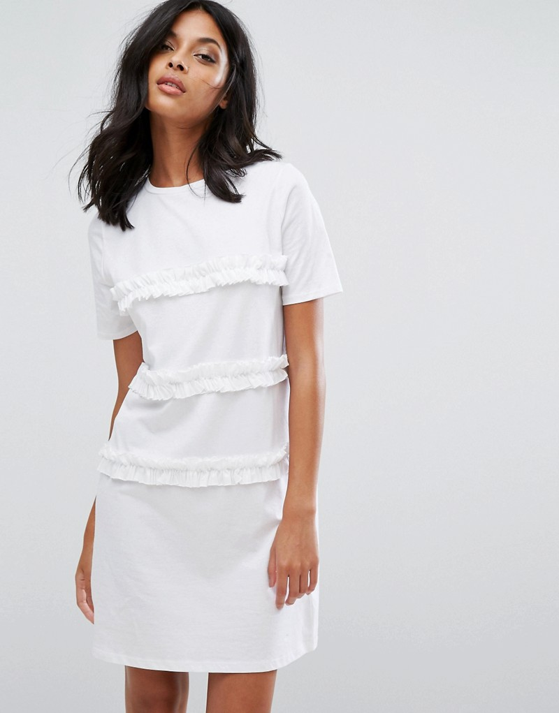 River Island Frill Front T-Shirt Dress