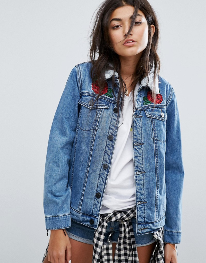 Santa Cruz Oversized Sherpa Lined Denim Jacket
