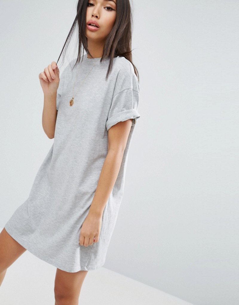 Ultimate T-Shirt Dress with Rolled Sleeves
