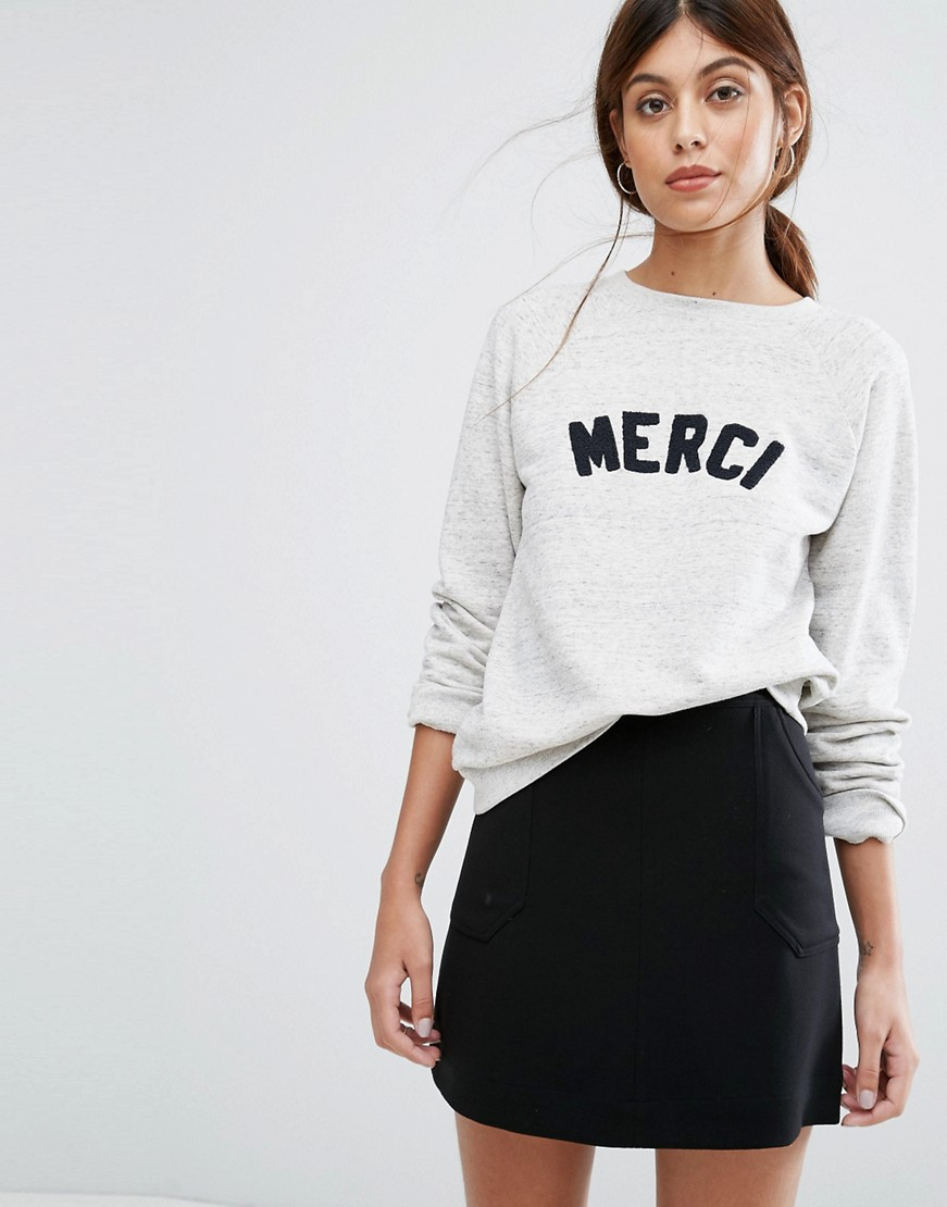 Whistles Merci Embroidered Sweatshirt