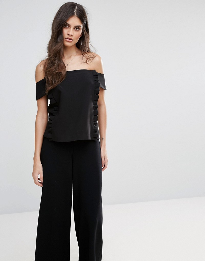 BA&SH Off Shoulder Frill Top