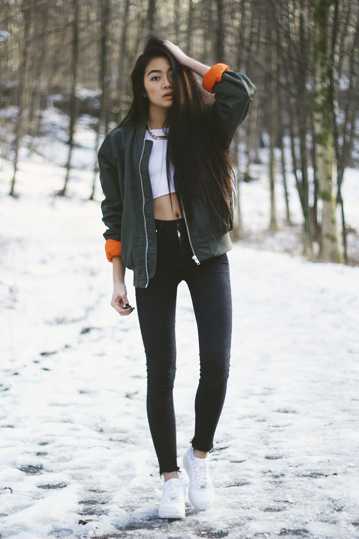 TREND Bloggers wearing the bomber jacket 6