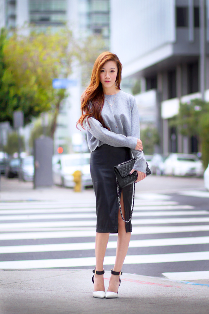 Bloggers wearing the pencil skirt - OOTD Magazine 3