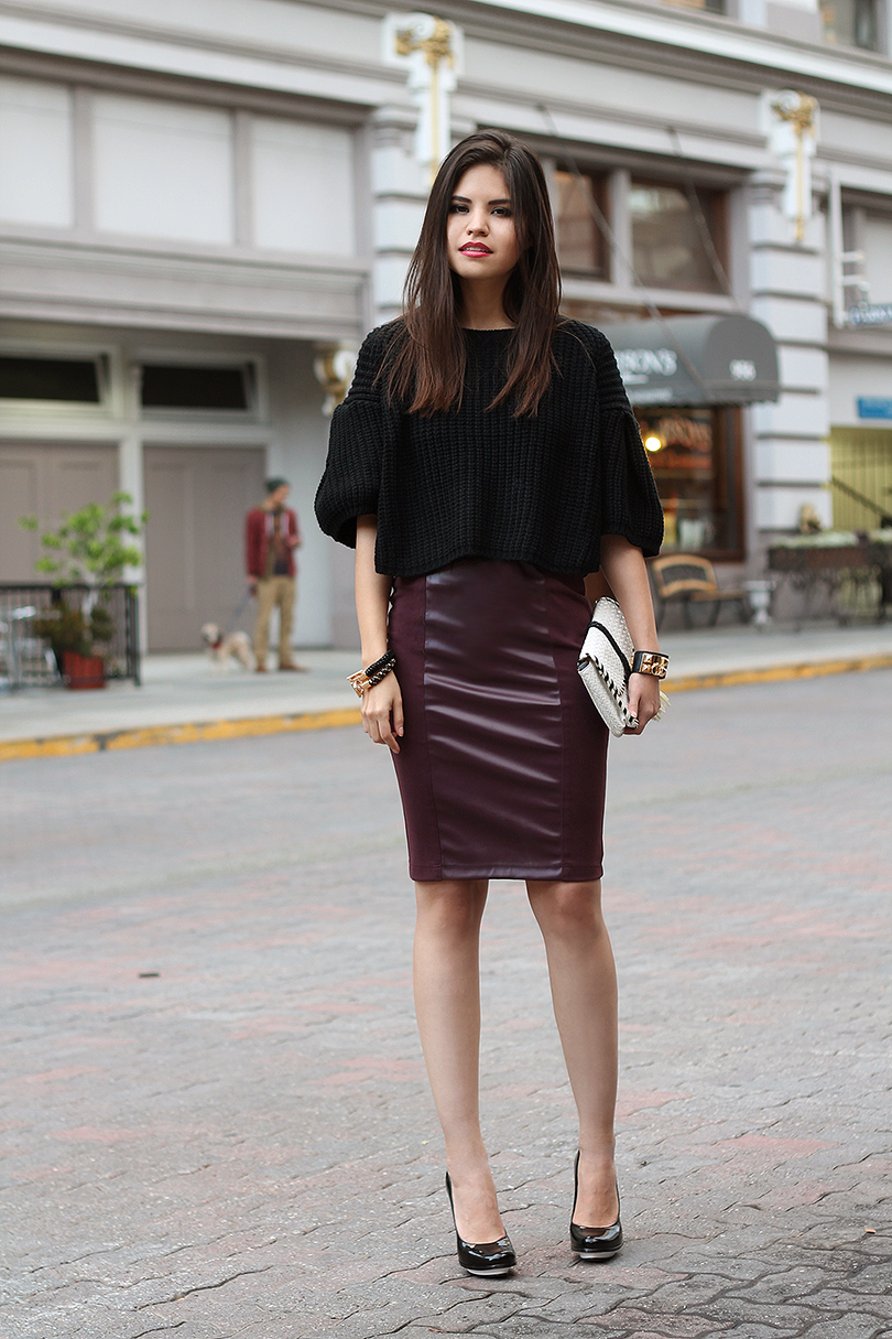 Bloggers wearing the pencil skirt - OOTD Magazine 4