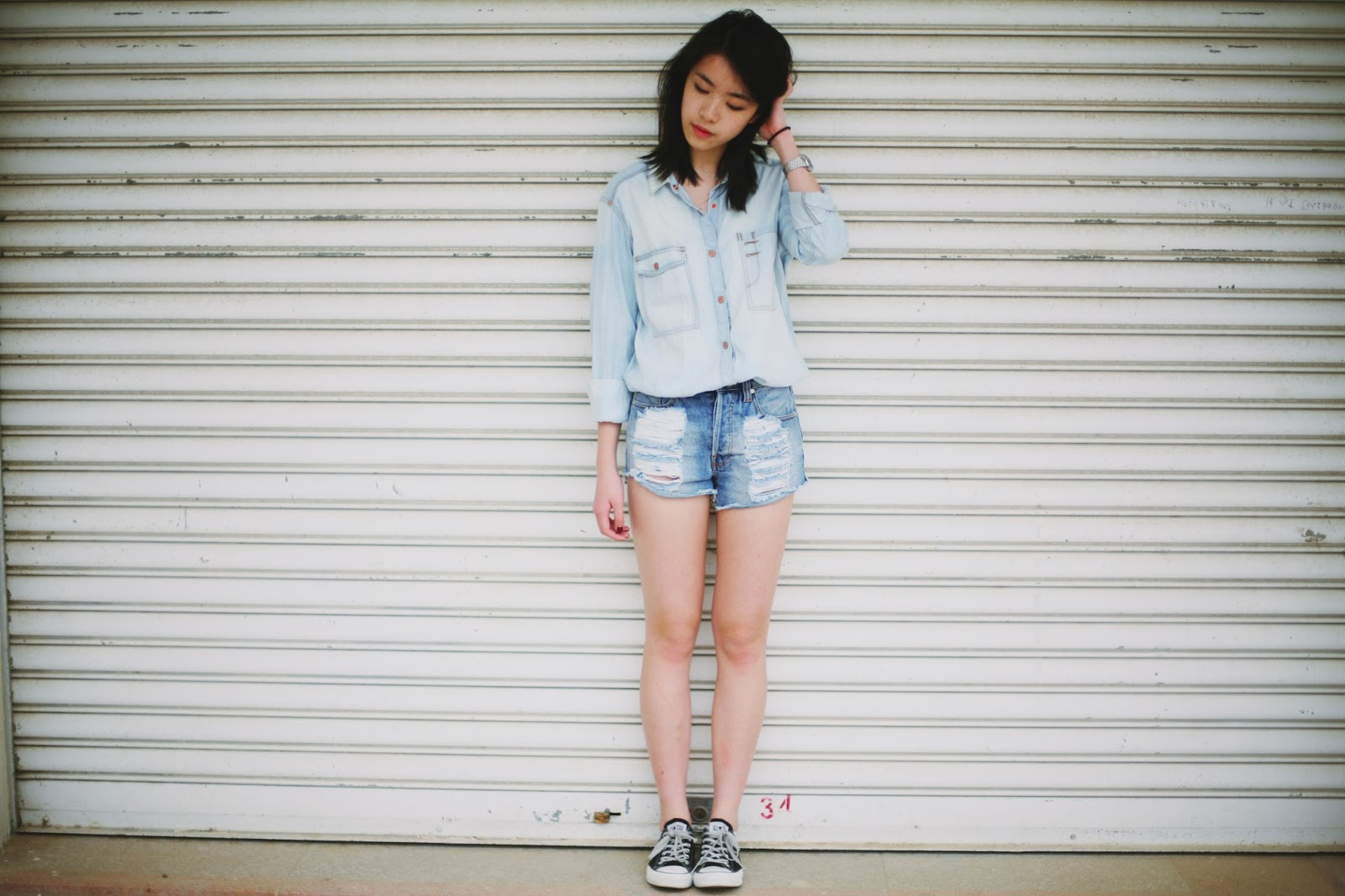 TREND denim on denim - double denim - OOTD Magazine 1
