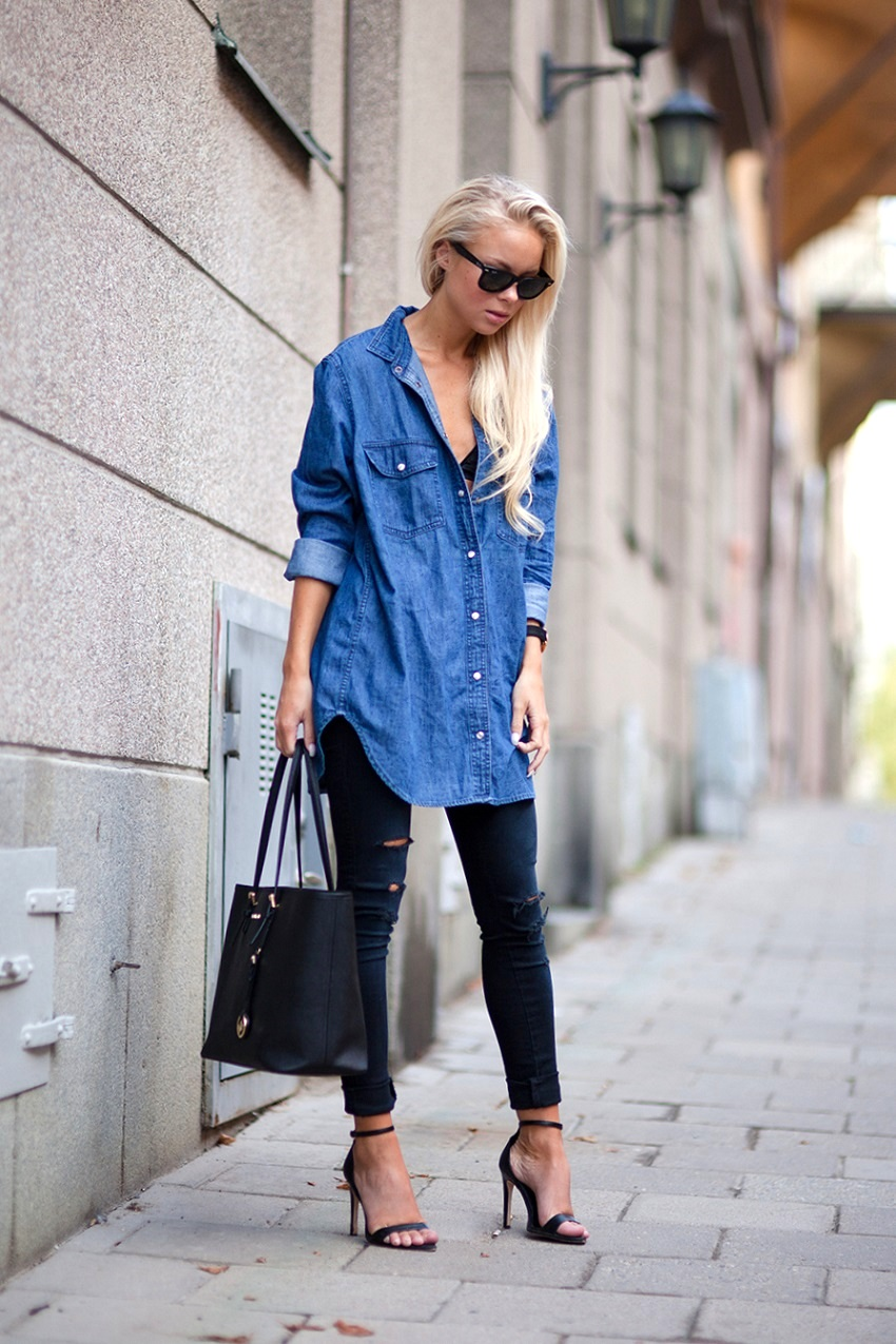 TREND denim on denim - double denim - OOTD Magazine 11