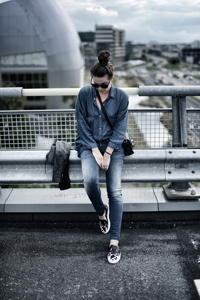 TREND denim on denim - double denim - OOTD Magazine 14