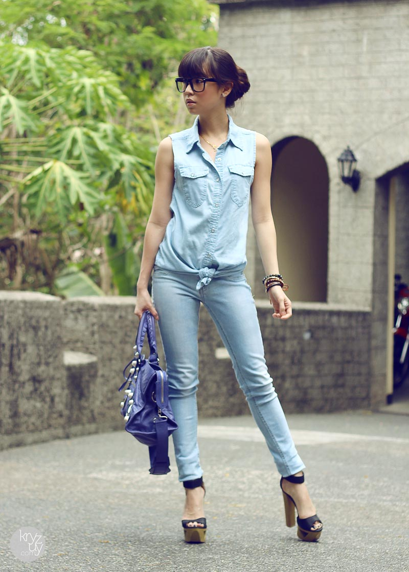 TREND denim on denim - double denim - OOTD Magazine 17