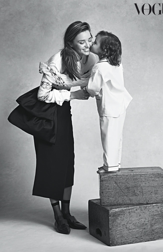 Miranda Kerr and Son Flynn For Vogue Australia July 2014 Cover 01