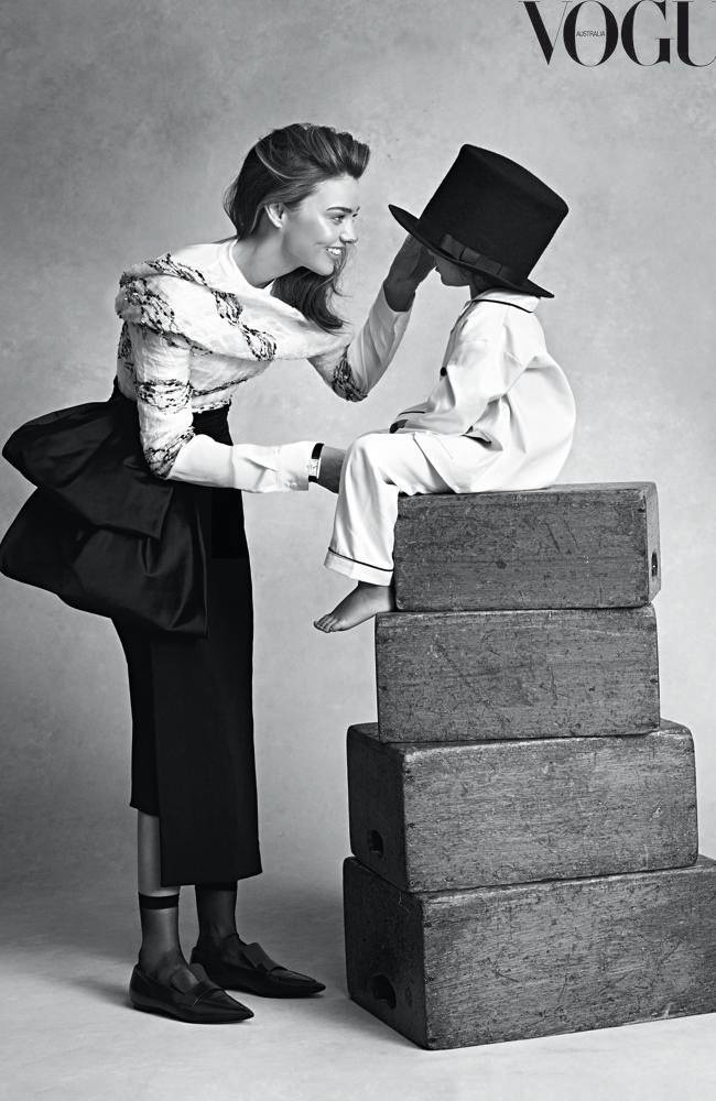 Miranda Kerr and Son Flynn For Vogue Australia July 2014 Cover 03