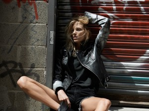 Anja Rubik Poses For BLK DNM Portraits