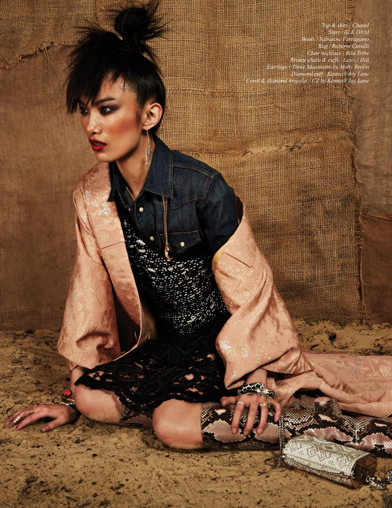 issi Hou Poses For Schön Magazine Summer 2014 Issue 06