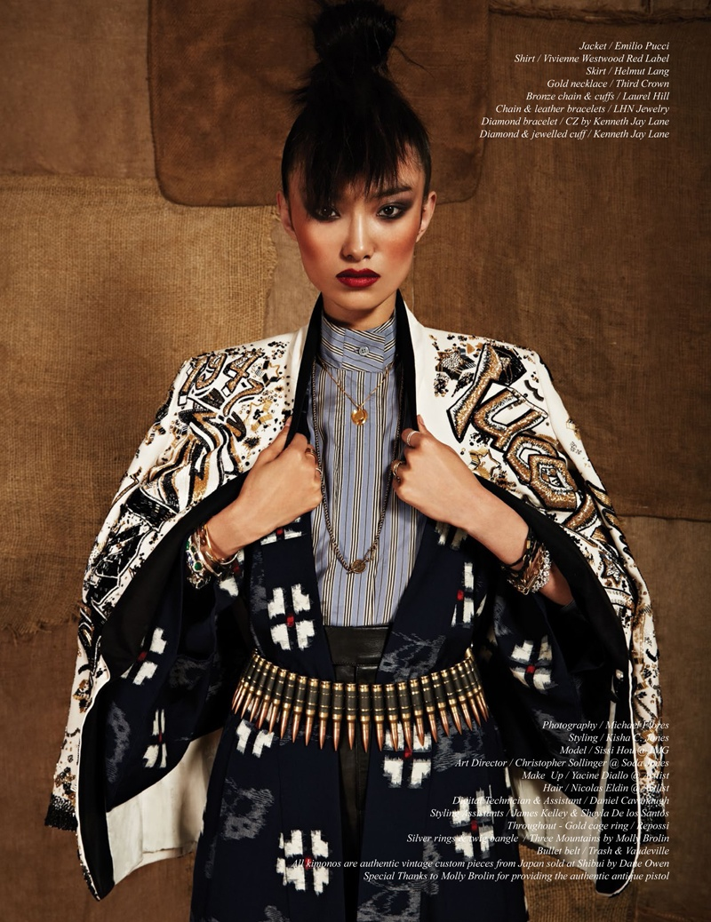 issi Hou Poses For Schön Magazine Summer 2014 Issue 10