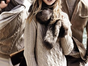 Sasha Pivovarova Poses For Massimo Dutti Fall Winter 2014