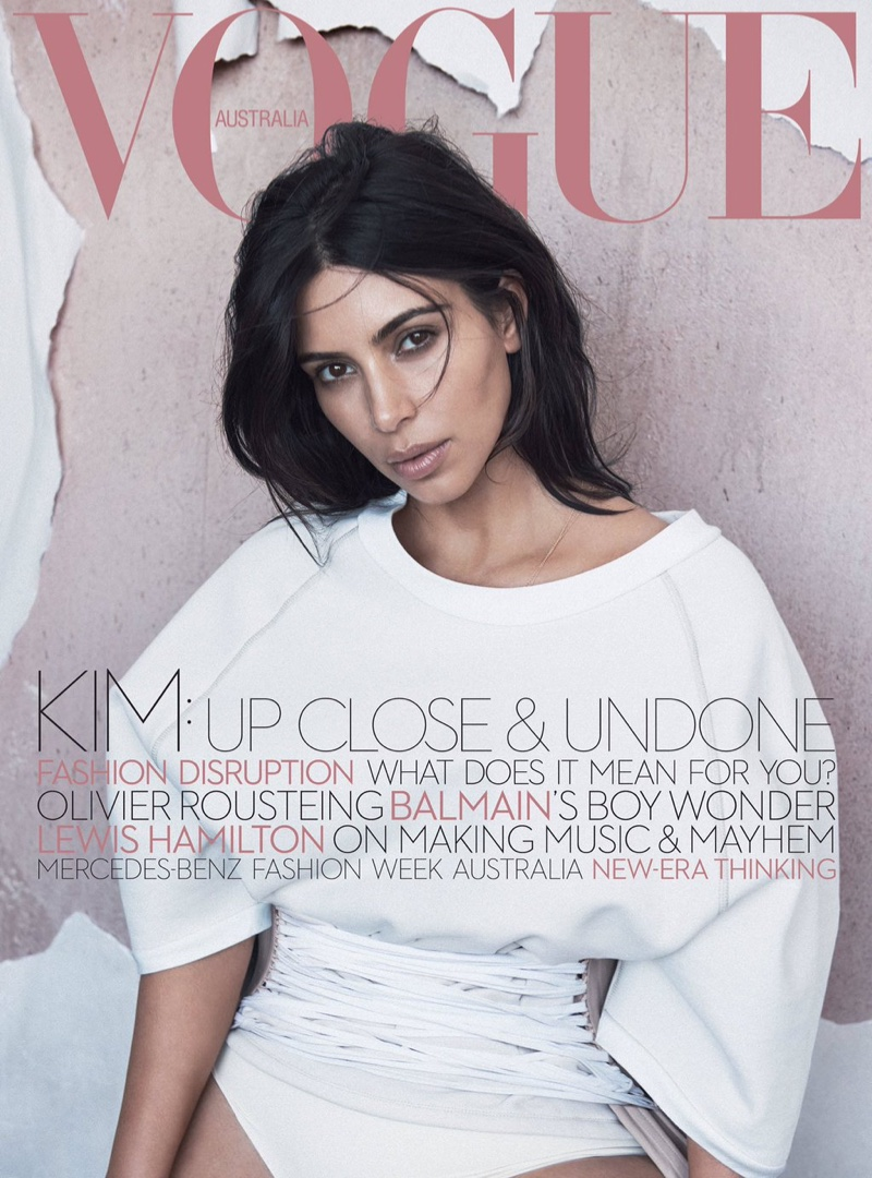 Kim Kardashian Poses For Vogue Australia June 2016 01