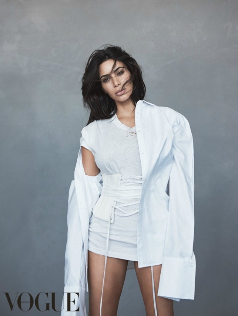 Kim Kardashian Poses For Vogue Australia June 2016 03