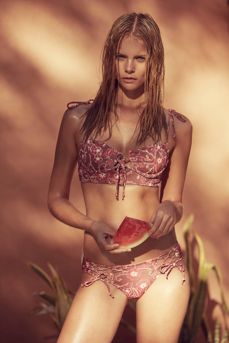 Marloes Horst Poses for Love & Lemons Summer 2016 17
