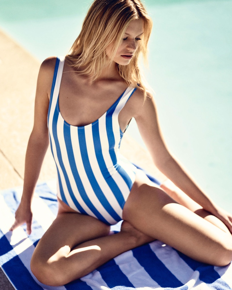 Nadine Leopold Poses for Solid & Striped's Summer 2016 12