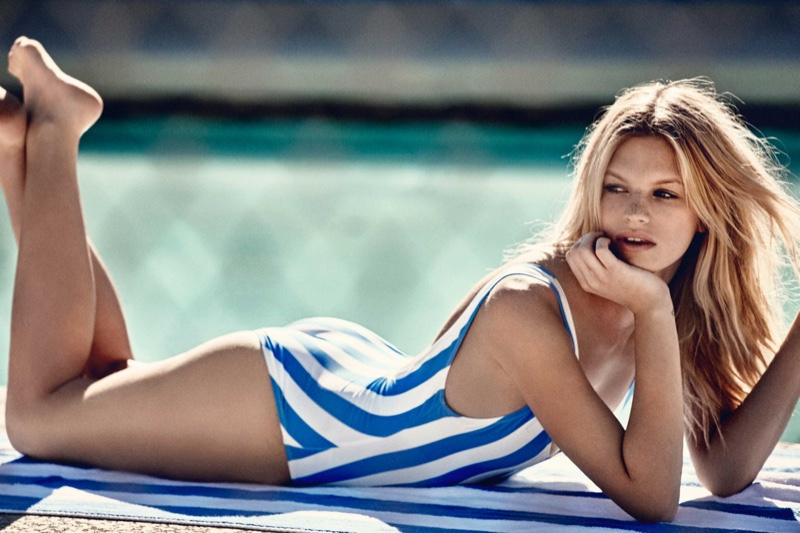 Nadine Leopold Poses for Solid & Striped's Summer 2016 13