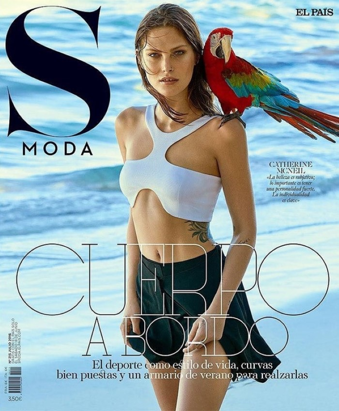 Catherine McNeil Poses For S Moda July 07