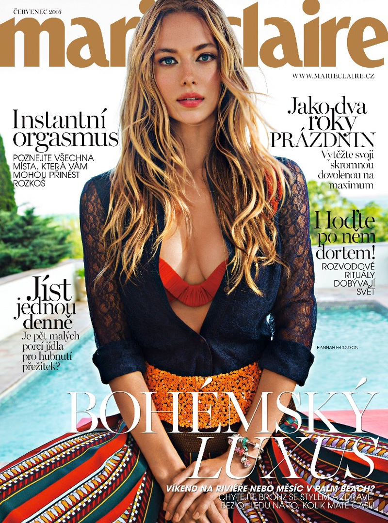 Hannah Ferguson Poses For Marie Claire Czech July 05