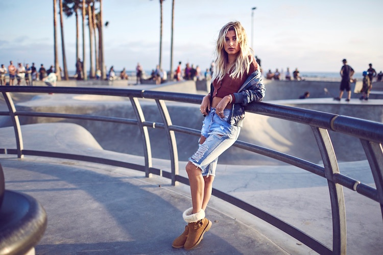 Hailey Baldwin Poses For UGG 03