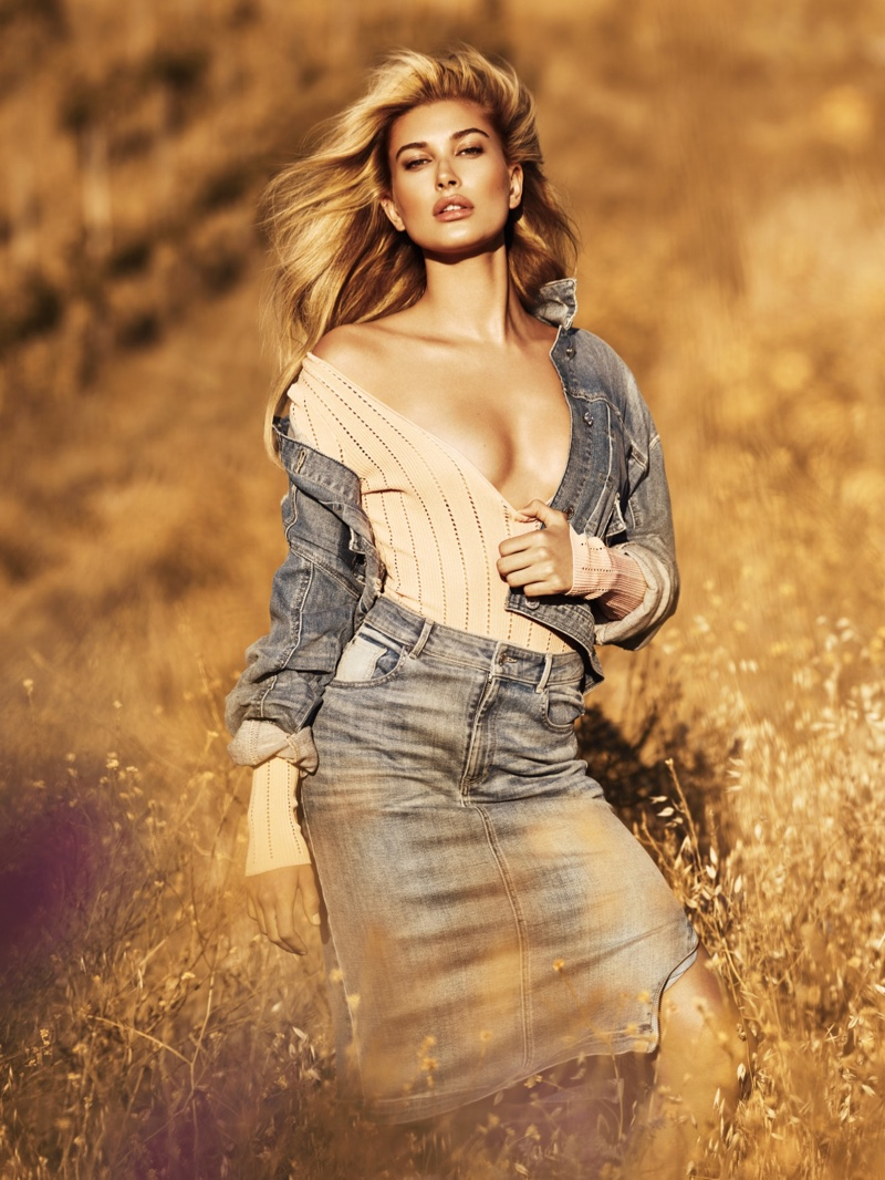 Hailey Balwin Poses For Guess Campaign 04