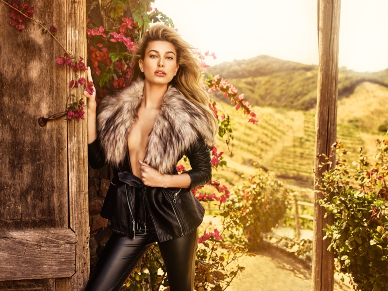 Hailey Balwin Poses For Guess Campaign 05