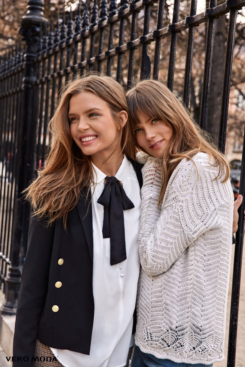 Josephine Skriver And Caroline Brasch Nielsen Poses For Vero Moda 02