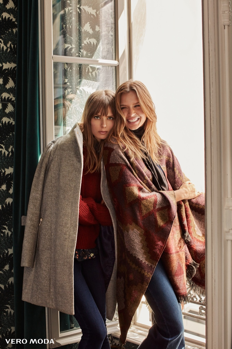 Josephine Skriver And Caroline Brasch Nielsen Poses For Vero Moda 03