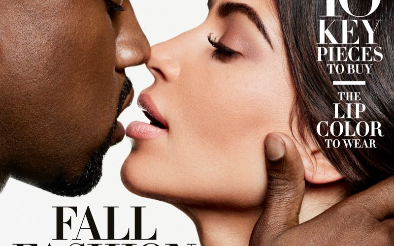 Kim Kardashian and Kanye West Haper's Bazaar September 2016 01