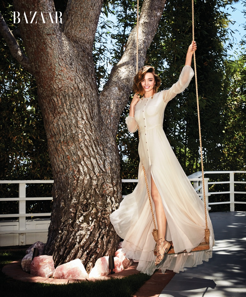 Miranda Kerr looking Gorgeous For Harper's Bazaar  01