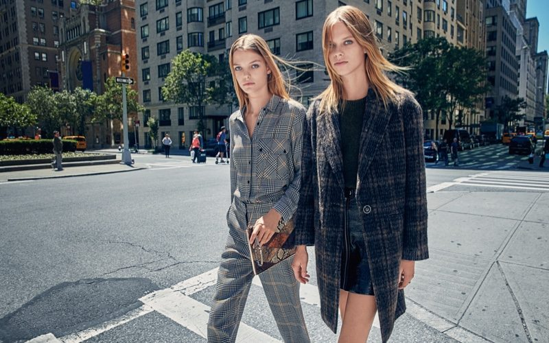 Roos Abdels And Lexi Boling Poses For Mango Fall 2016 04
